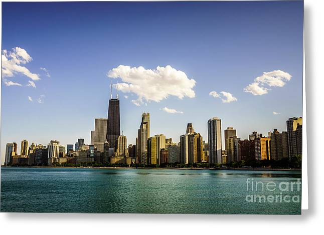 North Side Greeting Cards - Chicago Skyline with Downtown Chicago Buildings Greeting Card by Paul Velgos