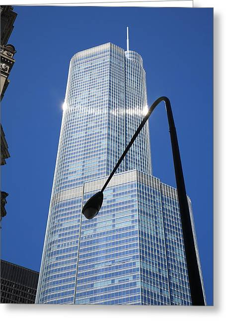 Twinkle Greeting Cards - Chicago Skyscraper Greeting Card by Frank Romeo