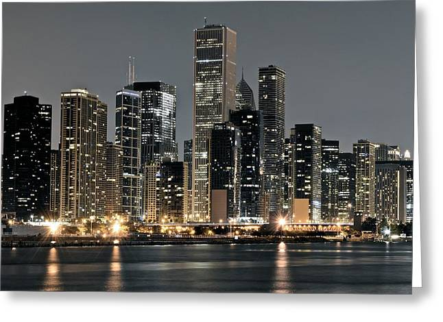 Chicago Standing Tall Greeting Card by Frozen in Time Fine Art Photography