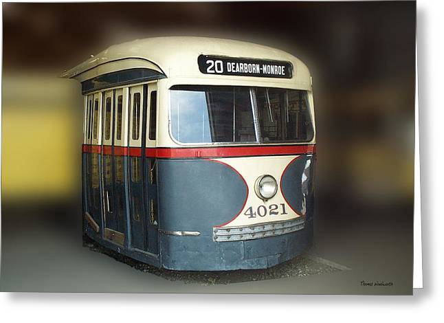Photography By Tom Woolworth Greeting Cards - Chicago Street Car 20 Greeting Card by Thomas Woolworth