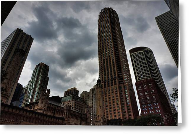 Hyatt Hotel Greeting Cards - Chicago - The Mag Mile 002 Greeting Card by Lance Vaughn