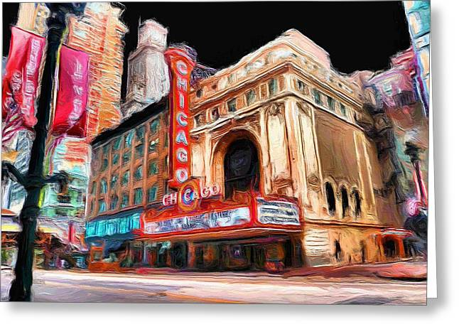 Ely Greeting Cards - Chicago Theater - 23 Greeting Card by Ely Arsha