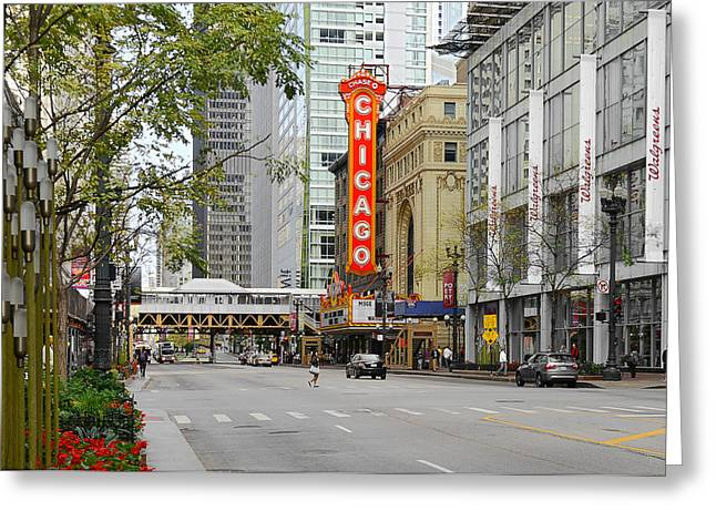 Theatres Greeting Cards - Chicago Theatre - French Baroque out of a movie Greeting Card by Christine Till