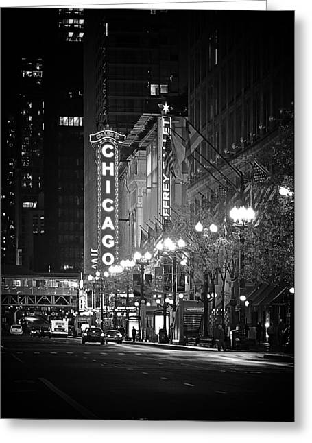 Old Buildings Greeting Cards - Chicago Theatre - Grandeur and Elegance Greeting Card by Christine Till