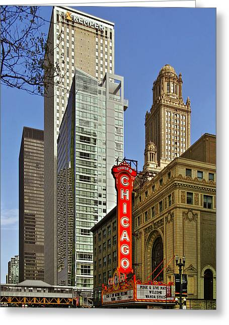 Chicago Theatre - This Theater Exudes Class Greeting Card by Christine Till
