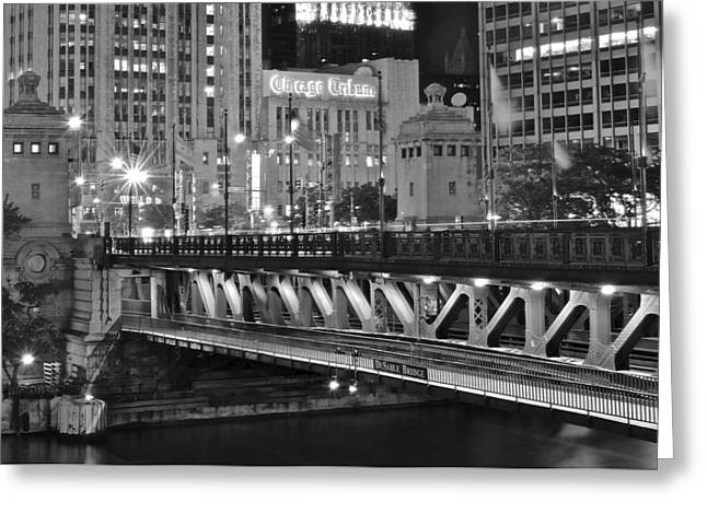 Chicago Bulls Greeting Cards - Chicago Tribune Greeting Card by Frozen in Time Fine Art Photography