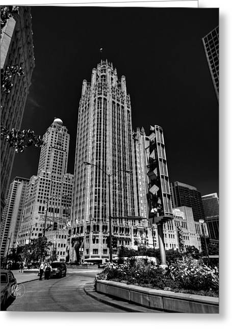Michigan Ave Greeting Cards - Chicago - Tribune Tower 001 Greeting Card by Lance Vaughn