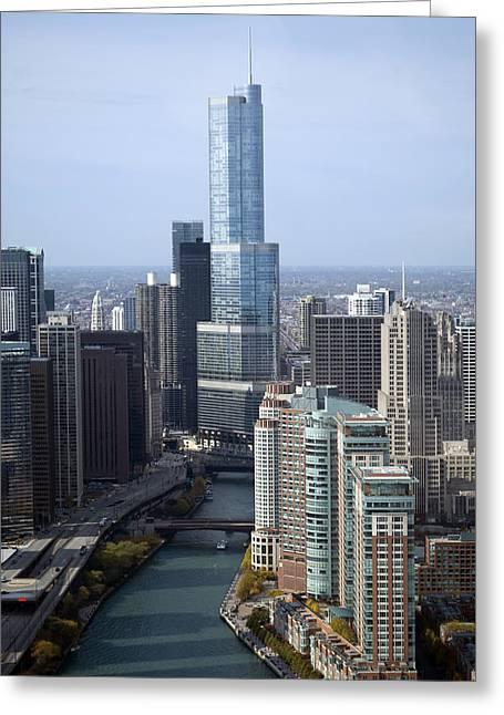 Thomas Woolworth Greeting Cards - Chicago Trump Tower Greeting Card by Thomas Woolworth
