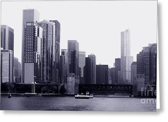 Sea View Tapestries - Textiles Greeting Cards - Chicago view1 Greeting Card by Gloria Yanez