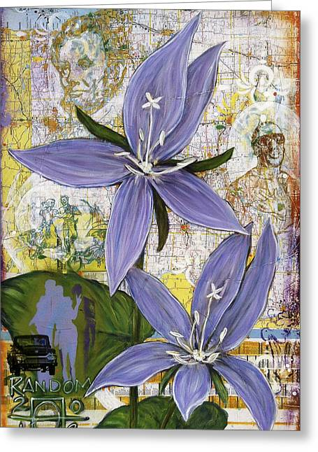Street Art Greeting Cards - Chicago Violets Greeting Card by Andrea LaHue aka Random Act
