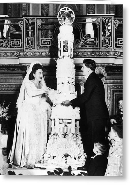Tiered Dress Greeting Cards - Chicago: Wedding Cake, 1947 Greeting Card by Granger