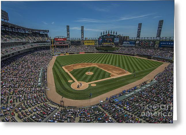Chicago Bulls Greeting Cards - Chicago White Sox 8693 Greeting Card by David Haskett