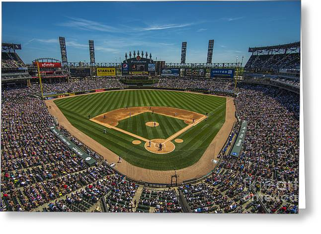 Boys Of Summer Greeting Cards - Chicago White Sox   Greeting Card by David Haskett