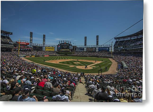 Chicago Bulls Greeting Cards - Chicago White Sox Low Greeting Card by David Haskett