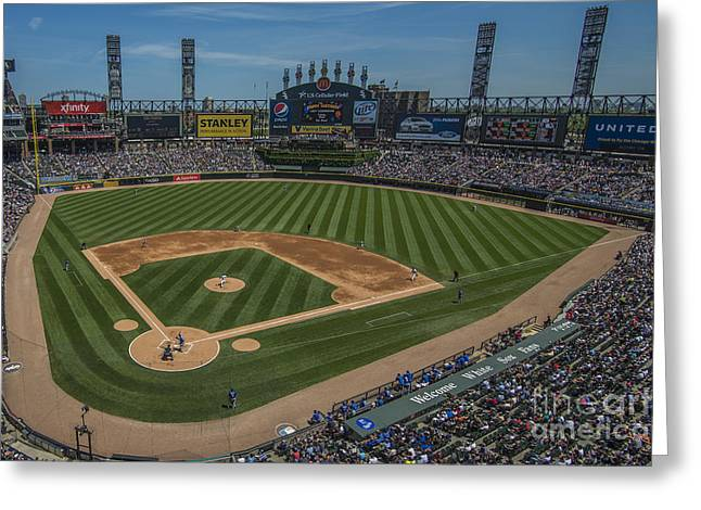Chicago Bulls Greeting Cards - Chicago White Sox Upper 1 Greeting Card by David Haskett