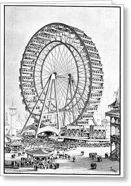 Weekly Greeting Cards - Chicago World Fair ferris wheel, 1893 Greeting Card by Science Photo Library