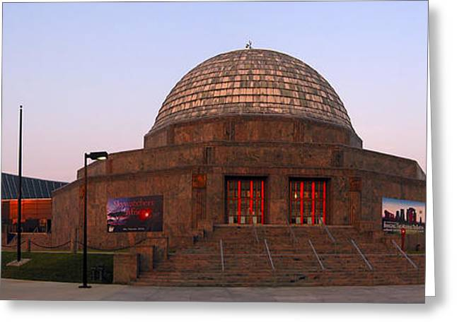 Observatory Greeting Cards - Chicagos Adler Planetarium Greeting Card by Adam Romanowicz