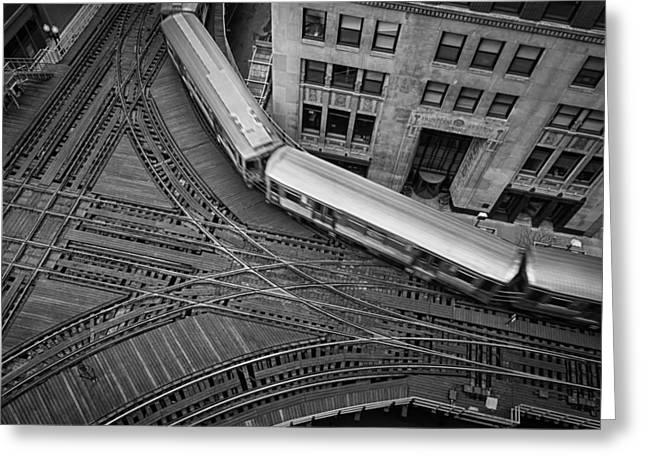 Metra Greeting Cards - Chicagos CTA Train Greeting Card by Mike Burgquist