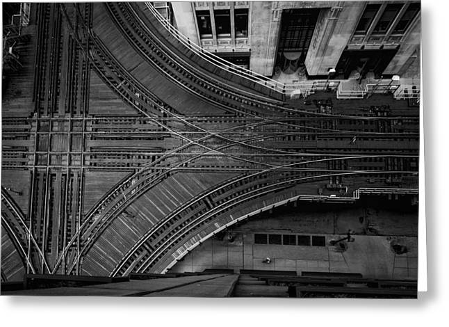 Chicago's Elevated Intersection Greeting Card by Mike Burgquist