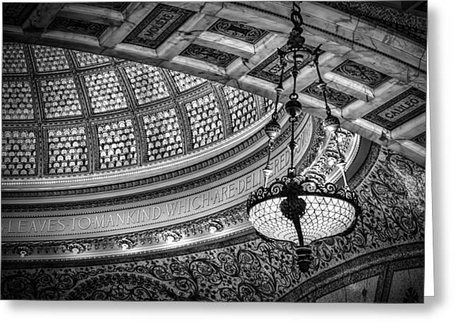 Glass Work Greeting Cards - Chicagos Tiffany Dome Greeting Card by Mike Burgquist