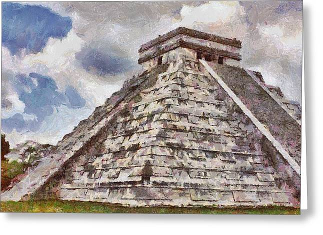 Stepping Stones Greeting Cards - Chichen Itza Greeting Card by Jeff Kolker