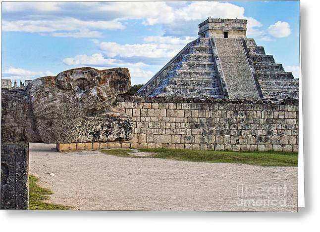 Chichen Itza - Mexico. View On El Castillo Pyramid. Greeting Card by Renata Ratajczyk