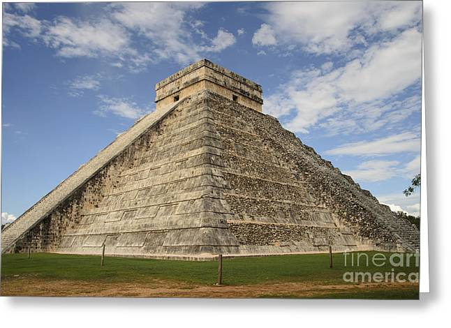 Civilization Pyrography Greeting Cards - Chichen Itza Greeting Card by Yoshiko Wootten
