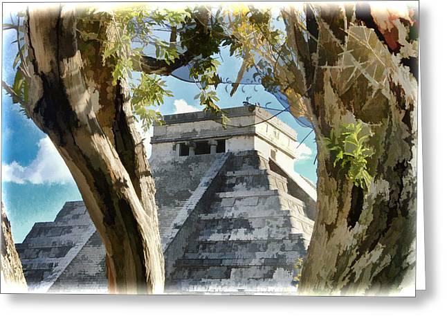 Cancun Greeting Cards - Chichen Itza - Yucatan Mexico Greeting Card by Jon Berghoff