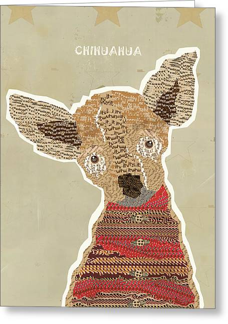 Chihuahua Portraits Greeting Cards - Chichuahua Greeting Card by Bri Buckley