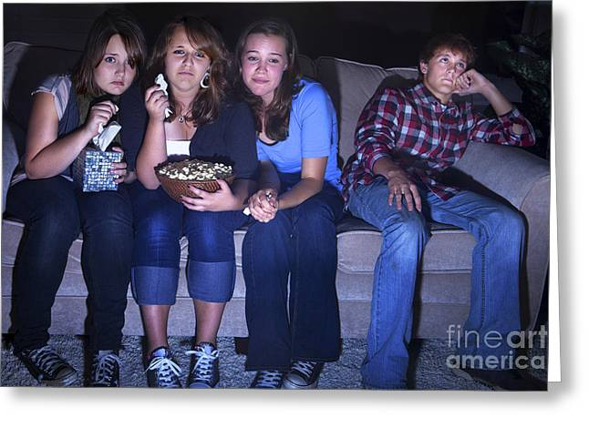 Teenage Photographs Greeting Cards - Chick Flick Greeting Card by Diane Diederich