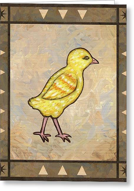 Rooster Greeting Cards - Chick One Greeting Card by Linda Mears