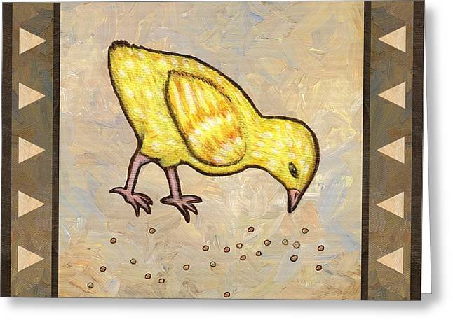 Chick Three Greeting Card by Linda Mears