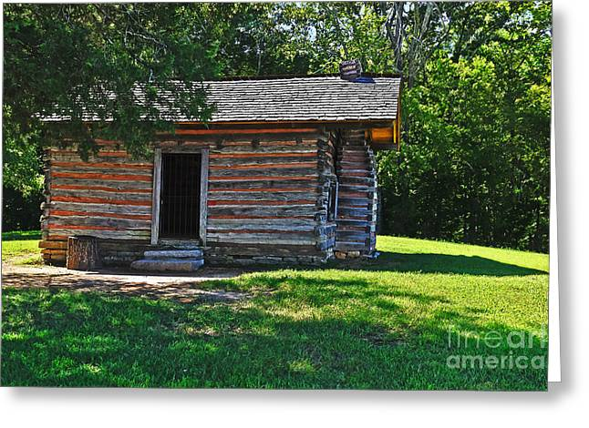 Civil War Battle Site Greeting Cards - Chickamauga Cabin Greeting Card by Elvis Vaughn