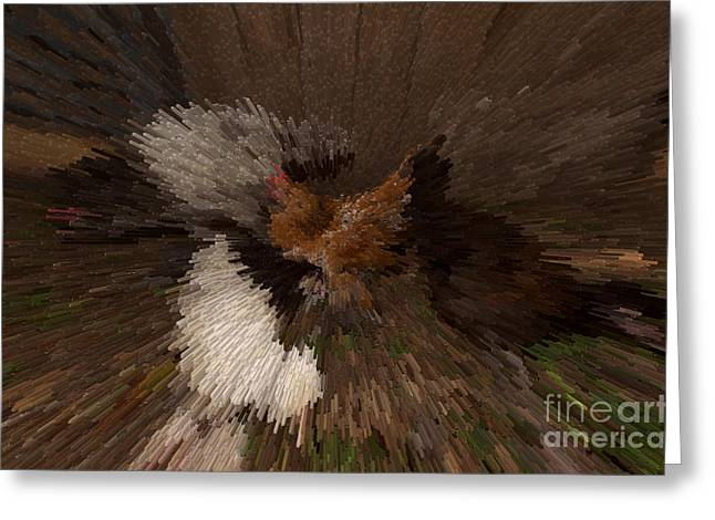 Mille Fleurs Greeting Cards - Chicken Art Greeting Card by Donna Brown