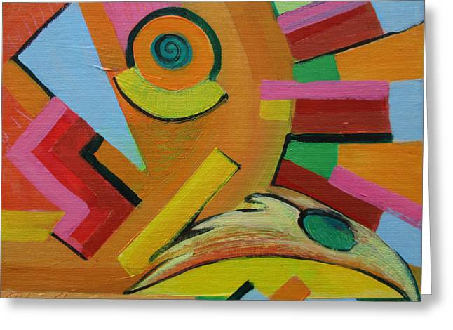 Cog Paintings Greeting Cards - Chicken Cog Greeting Card by Jeff Seaberg