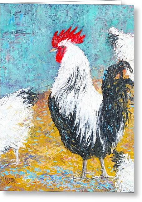 Country Cottage Greeting Cards - Chicken Coop Greeting Card by Jan Matson