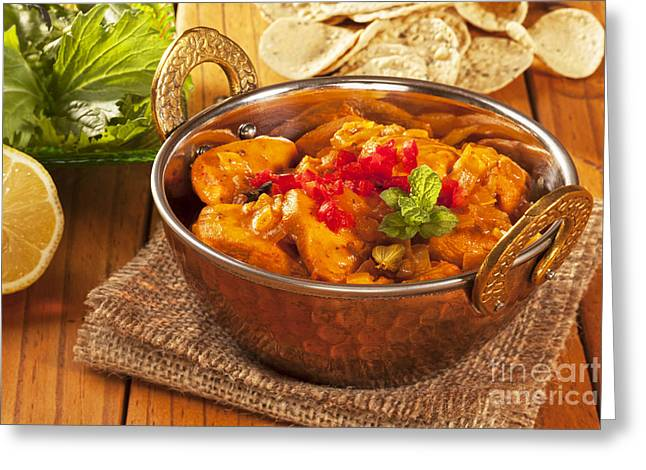 Curry Greeting Cards - Chicken Curry Greeting Card by Colin and Linda McKie