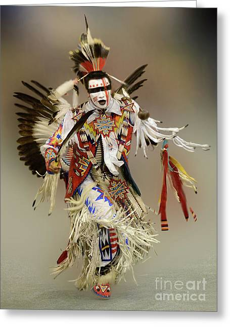 Canadian Photographer Greeting Cards - Pow Wow Dreamtime 1 Greeting Card by Bob Christopher