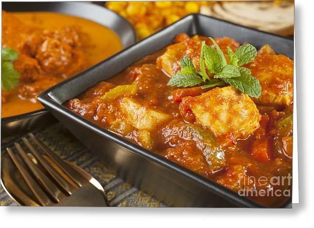 Selection Greeting Cards - Chicken Jalfrezi Curry Greeting Card by Colin and Linda McKie