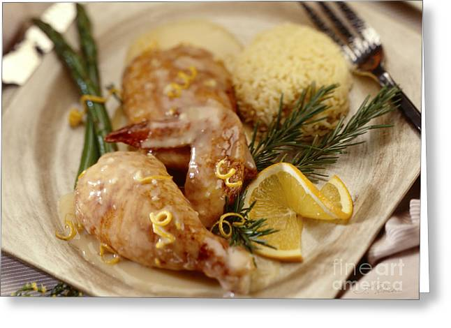 Kosher Greeting Cards - Chicken La Orange Greeting Card by Iris Richardson