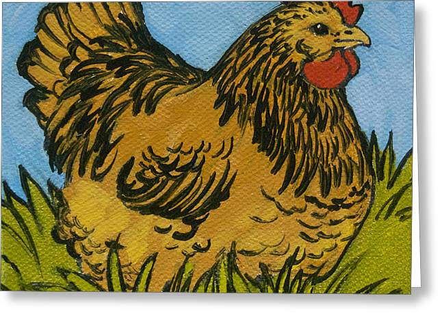 Chicken Greeting Cards - Chicken Little 7 Greeting Card by Tracie Thompson