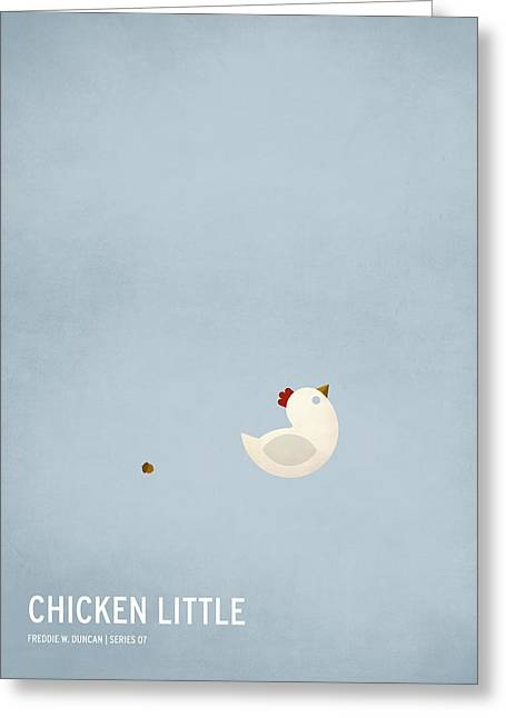 Wonderland Greeting Cards - Chicken Little Greeting Card by Christian Jackson