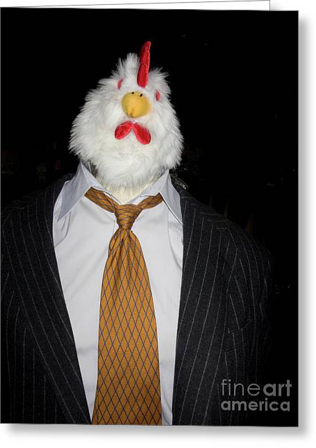 Linda Matlow Greeting Cards - Chicken Man Greeting Card by Linda Matlow