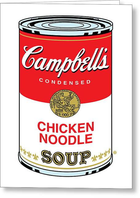 Decorative Greeting Cards - Chicken Noodle Soup Greeting Card by Gary Grayson