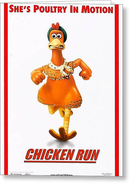 Motion Picture Poster Greeting Cards - Chicken Run B Greeting Card by Movie Poster Prints