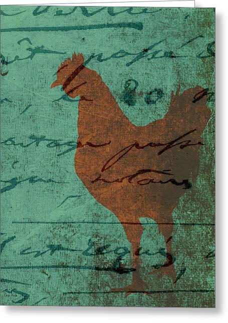 Chicken Greeting Cards - Chicken Scratch Greeting Card by Lesa Fine