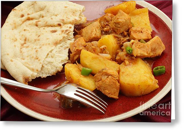 Vinegar Greeting Cards - Chicken vindaloo curry Greeting Card by Paul Cowan