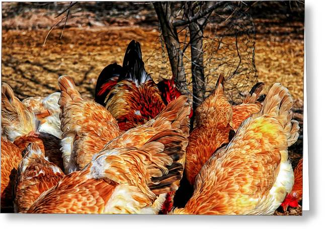 Mealtime Digital Greeting Cards - Chicken Wings Greeting Card by Barbara D Richards