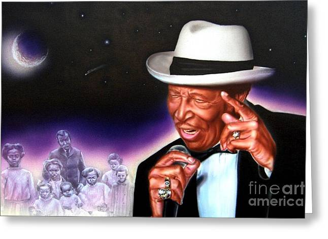 Ancestors Greeting Cards - Chico Vega of the Drifters Greeting Card by James Loveless
