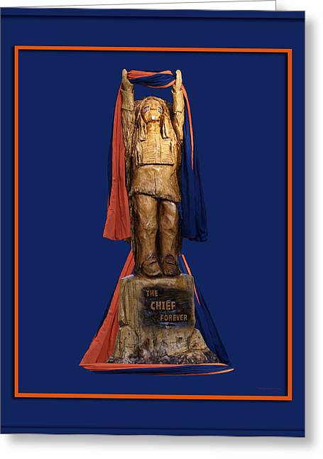Central Il Greeting Cards - Chief Illiniwek University of Illinois 05 Greeting Card by Thomas Woolworth